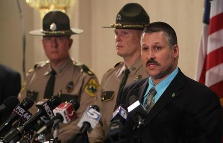 State Police Major Edward Ledo held a press conference Wednesday announcing the arrests.